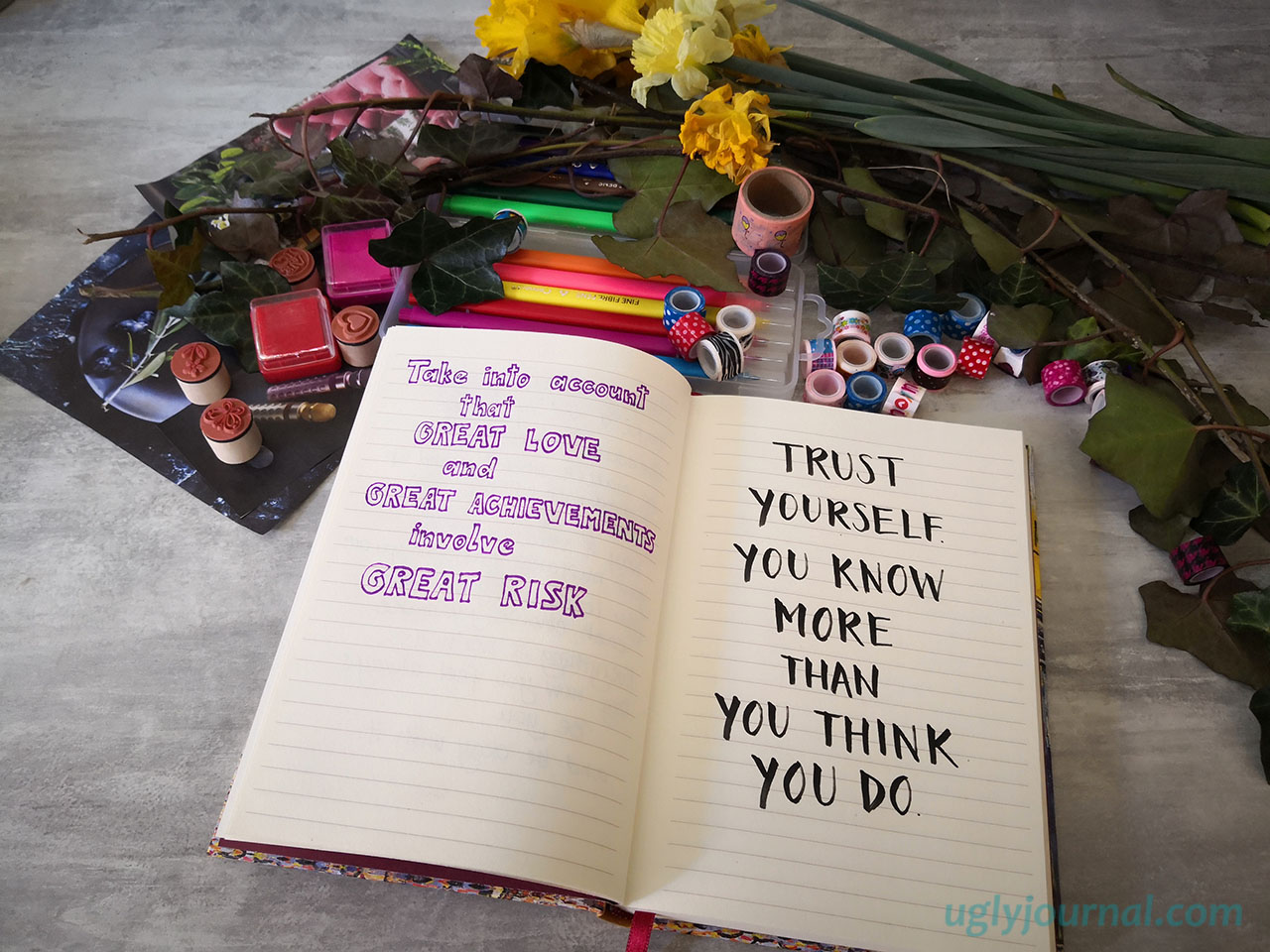 10 THINGS TO GIVE UP WHILE JOURNALING