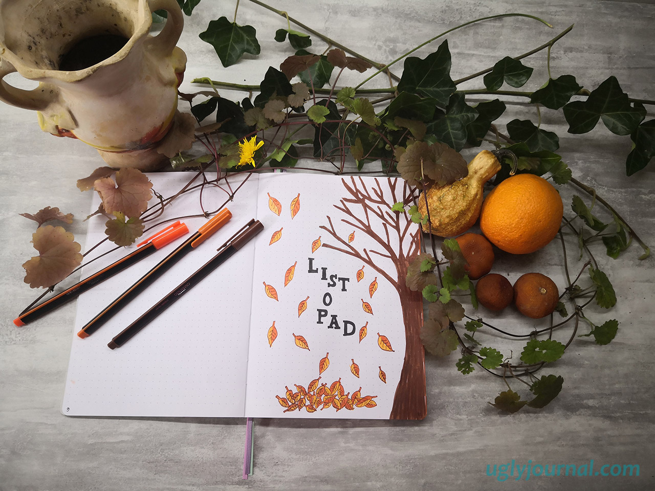 10 IDEAS FOR OCTOBER MONTHLY SPREAD