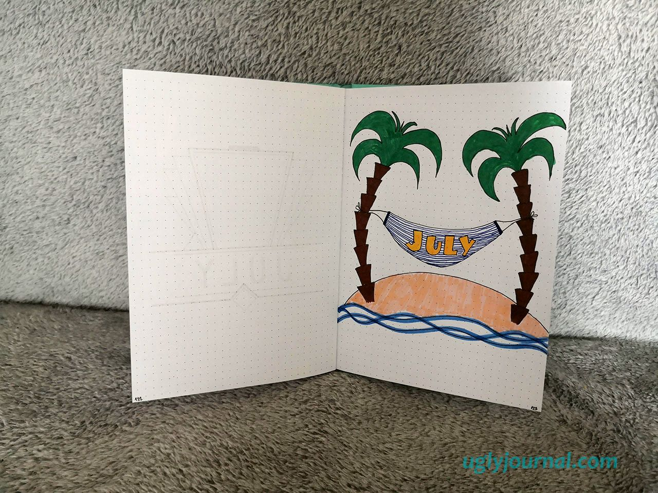 SIMPLE IDEAS FOR JULY BULLET JOURNAL